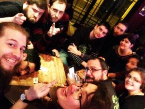 photo de groupe d'une partie de l'équipe